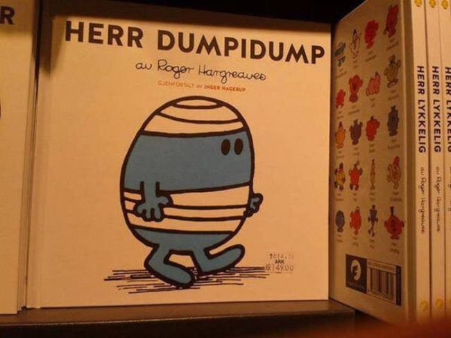 herr dumpidump, children's book, wtf