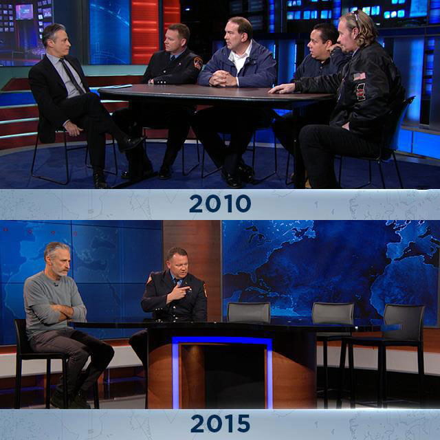 9-11 first responders 5 years later, jon stewart