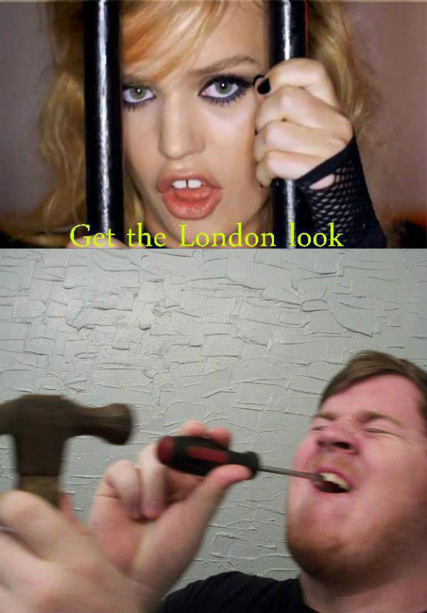 get the london look, screwdriver and hammer