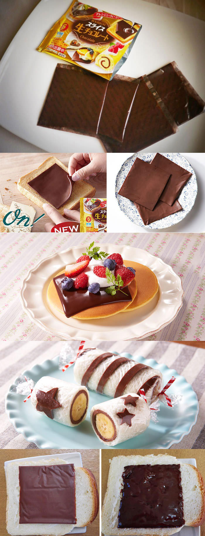 chocolate slices like cheese