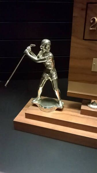 fail golf trophy, holding the club wrong, wtf