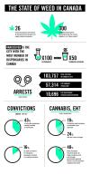 the state of weed in canada, marijuana infographic
