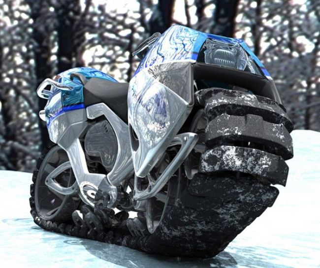 awesome futuristic looking motorcycle