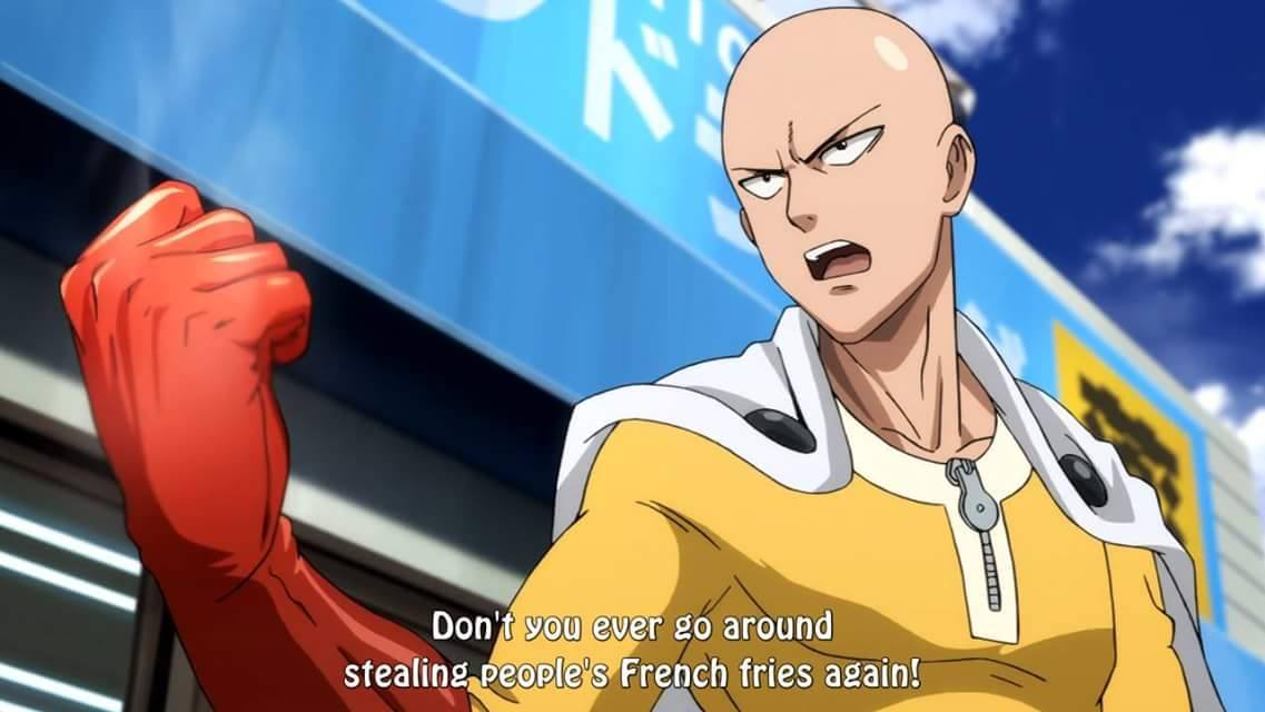 don't you ever go around stealing people's french fries again, anime