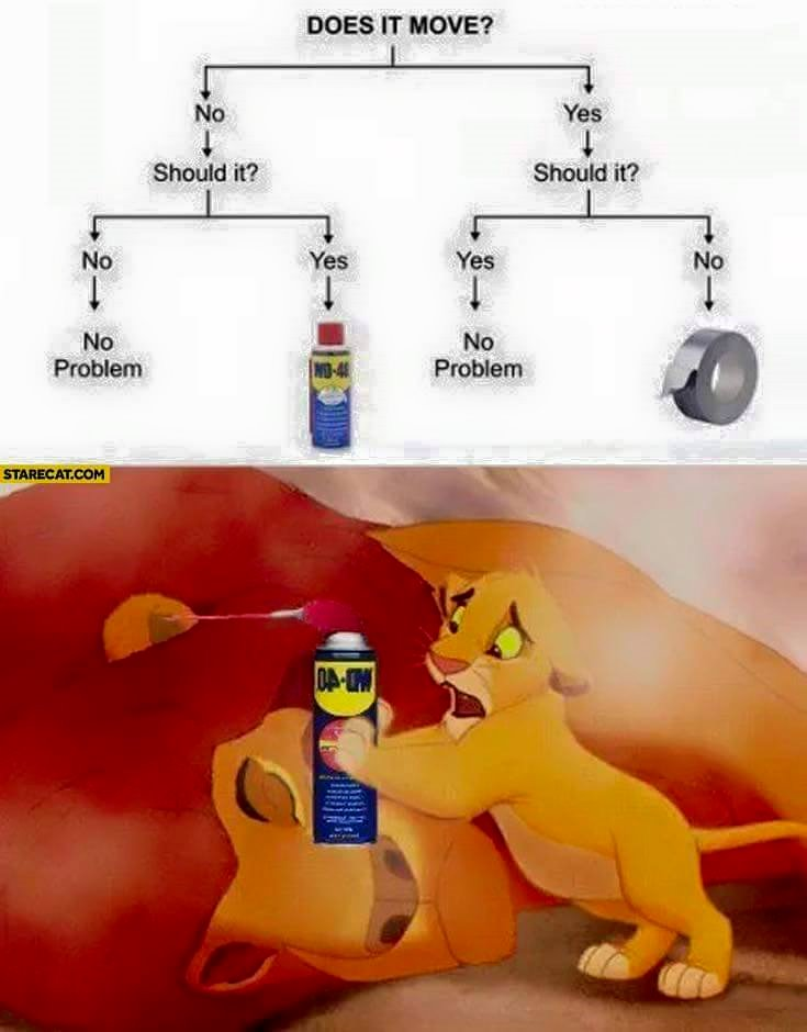 does it move?, engineer solution does not work for samba's dad, the lion king