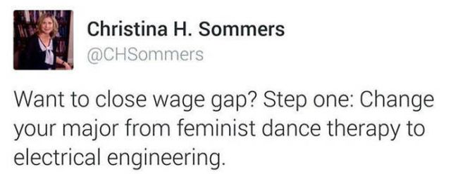 want to close wage hap, step one, change your major from feminist dance therapy to electrical engineering