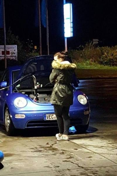 when your wife takes the car out for a stroll, fail, tank filling wrong