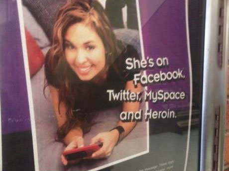 she's on facebook twitter myspace and heroin, well that escalated quickly