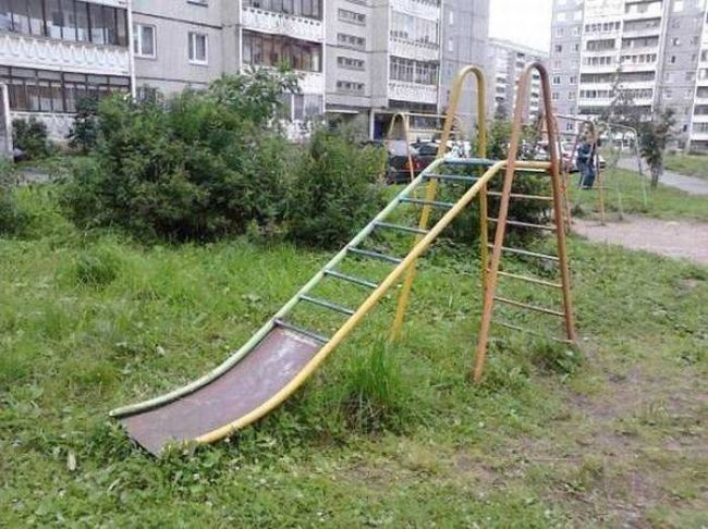 worst slide and monkey bars ever