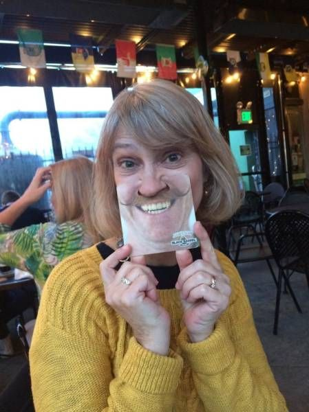 when your wife has a wonderful moustache because of that coaster