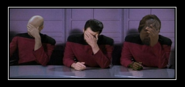 triple facepalm, star trek