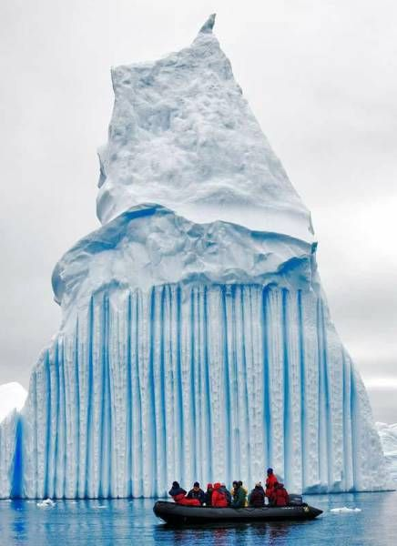 melting iceberg in the arctic