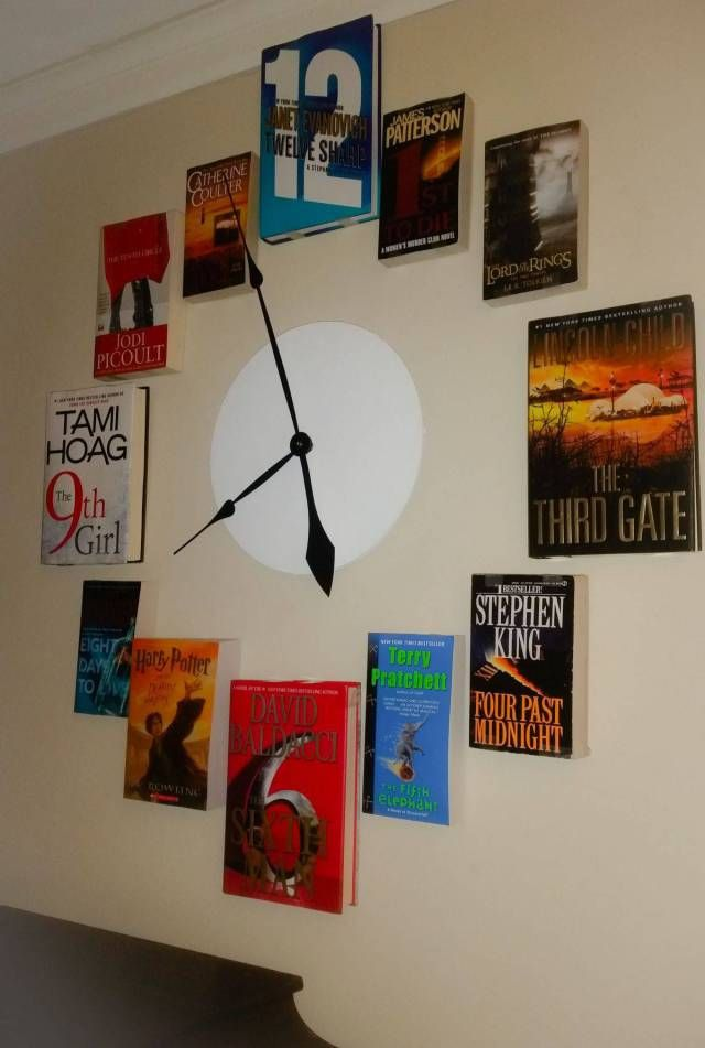 number in title of book on wall clock