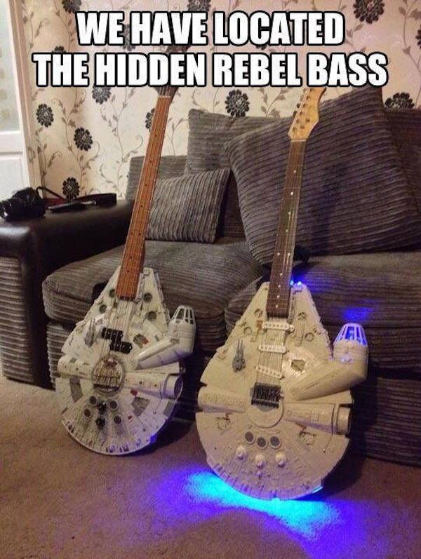 we have located the hidden rebel bass, star wars, millennium falcon, meme