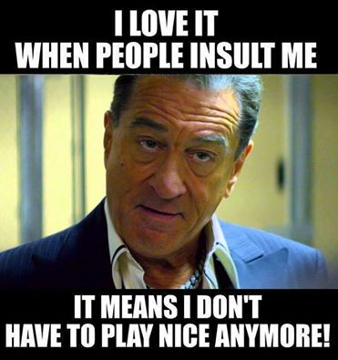i love it when people insult me, it means i don't have to play nice anymore