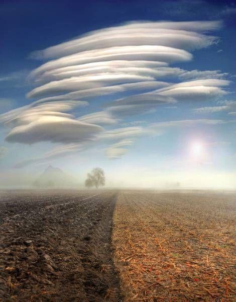 crazy ufo shaped clouds