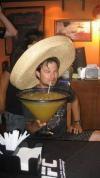 when you're drinking a giant margarita while wearing a sombrero