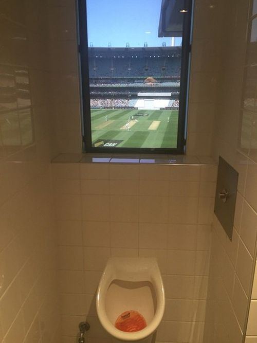 the best view for a urinal ever