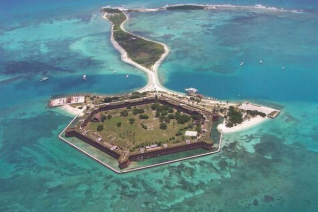 pentagon walls on this isolated tropical island