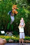 reenacting the lion king scene at disney world with your baby