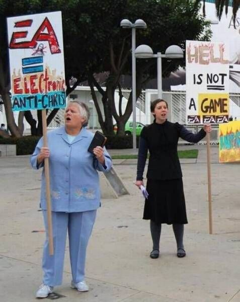 electronic anti-christ, hell is not a game, video game protestors