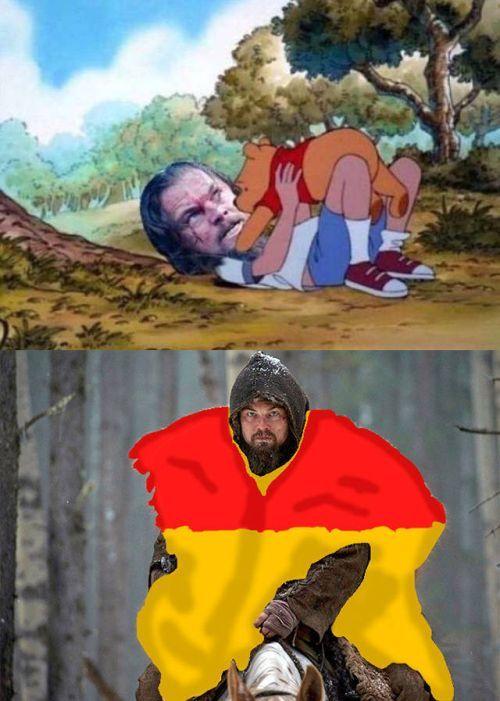 leonardo dicaprio gets the pooh