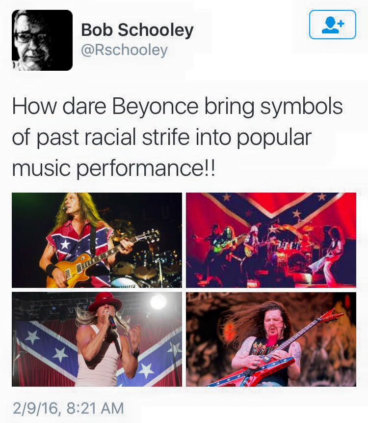 how dare beyonce bring symbols of past racial strife into popular music performance