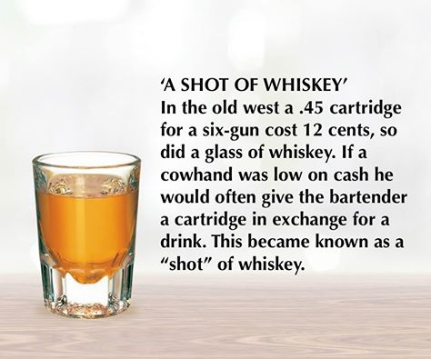 why is it called a shot of whiskey?