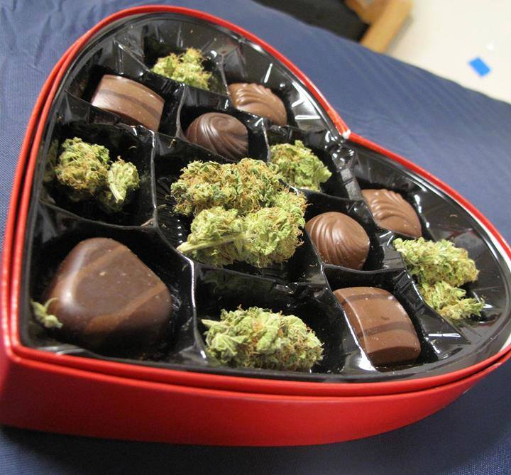 how to have a very happy st valentine's day, weed and chocolate