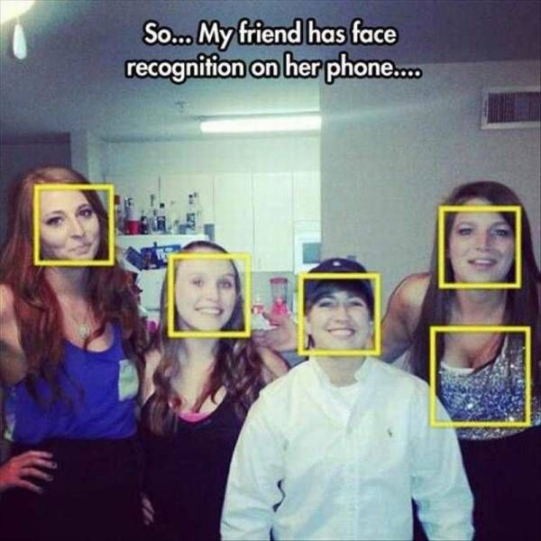 so my friend has face recognition on her phone
