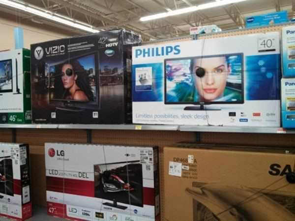 eye patches are the latest marketing gimmick for selling tvs