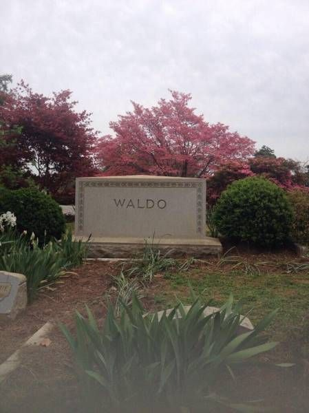 when you find waldo and then you are sad, waldo's tombstone