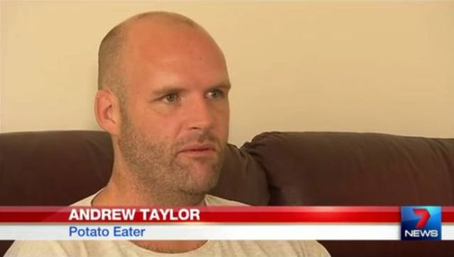 andrew taylor potato eater, weird tv names and labels
