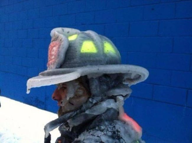 being a fireman in the winter of one hell frozen over of a job