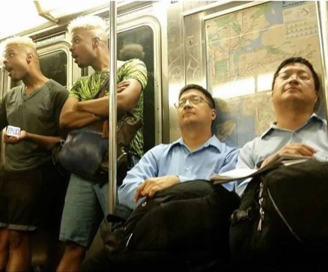 just a pair of twins on the subway system, public transport coincidences