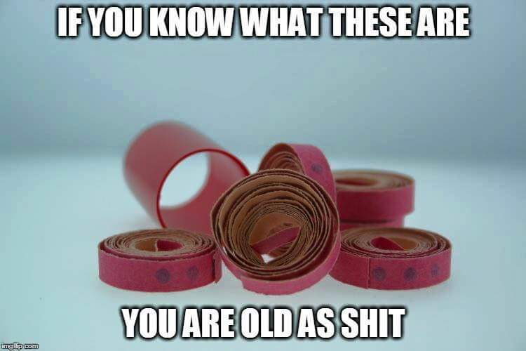 if you know what these are, you are old as shit, cap gun powder ribbon