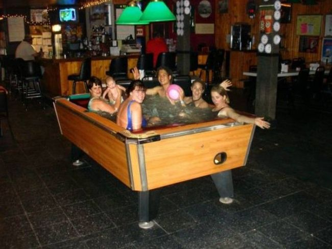 a real genuine pool table, wtf