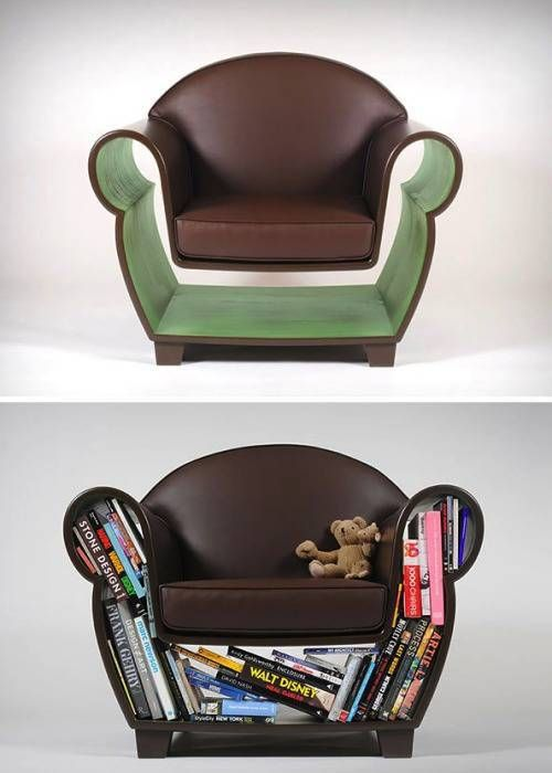 book case lazy boy, cool furniture for book lovers