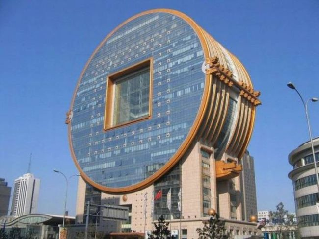 circular apartment building, wtf architecture