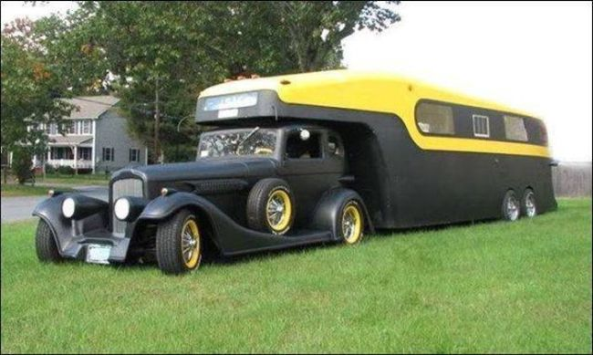 old car style hitch recreational vehicle, rv