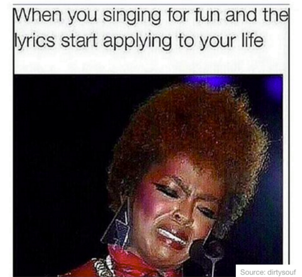 when you start singing for gun and the lyrics start applying to your life