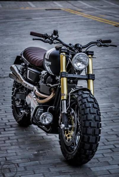 steampunk style motorcycle