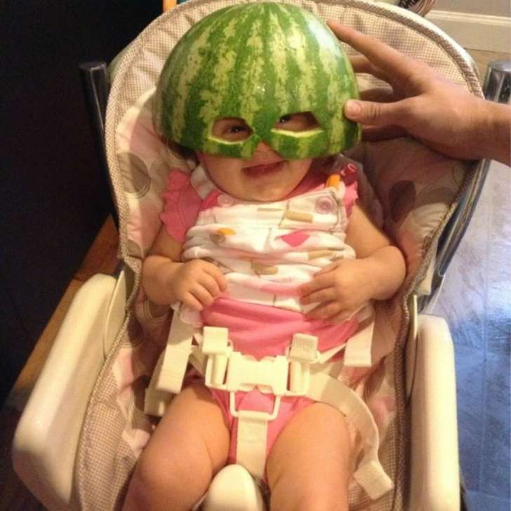 water melon helmet for baby
