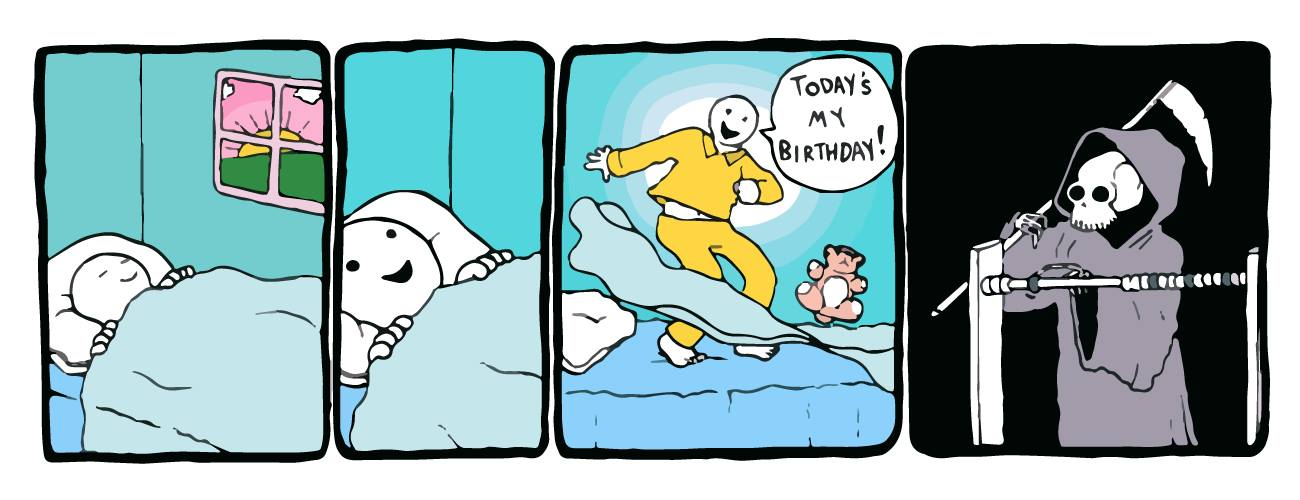 death counts each year, it's my birthday!, comic