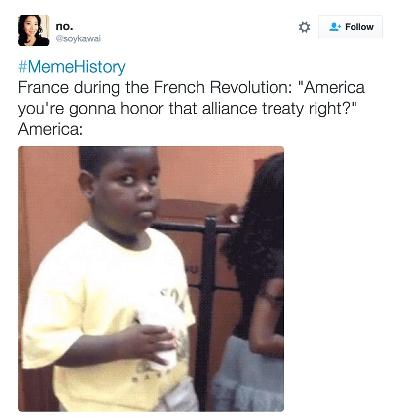 france during the french revolution, american you're gonna honor that aliiance treaty right?, america: