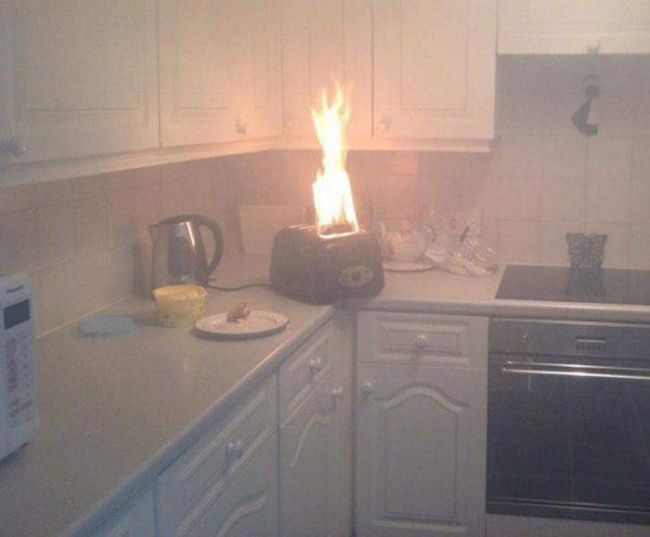 just a simple house toaster fire