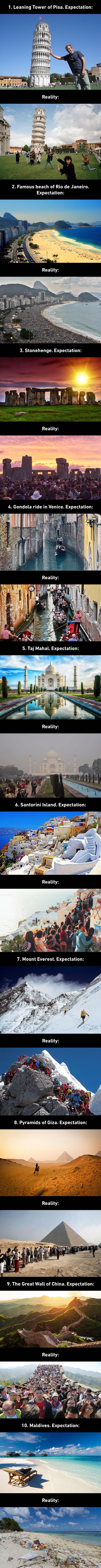 expectation versus reality in travelling the world