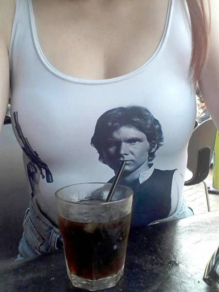 harrisson ford as han solo is thirsty on this tank top