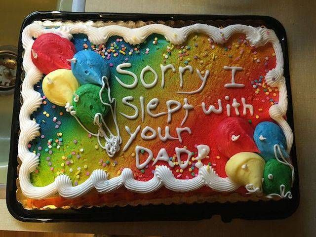sorry i slept with your dad cake