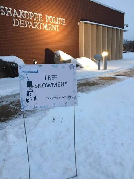 free snowmen with some assembly required